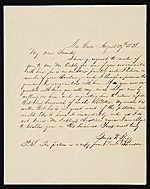 George Flagg, New Haven, Conn. letter to Asher Brown Durand, New York, N.Y.