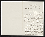 Thomas Hovenden, Plymouth Meeting, Pa. letter to Charles Henry Hart