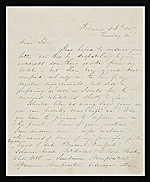 Richard William Hubbard letter to unidentified recipient