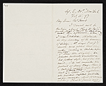 Daniel Huntington, New York, N.Y. letter to Charles Henry Hart, Rosewood, Pa.