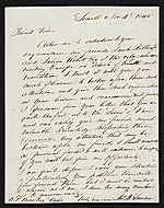 Thomas Bayley Lawson, Paris, France letter to Benjamin Poore, Lowell, Mass.