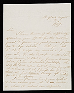 Thomas Le Clair, Buffalo, N.Y. letter to Asher Brown Durand, New York, N.Y.
