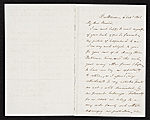 Frank Blackwell Mayer, Baltimore, Md. letter to John Durand, New York, N.Y.