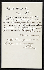 [Louis Moeller, New York, N.Y. letter to Thomas B. (Thomas Benedict) Clarke, New York, N.Y. ]