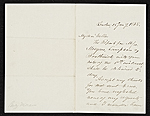 Benjamin Moran, London, England letter to unidentified recipient, New York, N.Y.