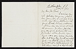 Thomas Moran, East Hampton, N.Y. letter to unidentified recipient