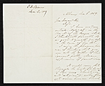 Erastus Dow Palmer, Albany, N.Y. letter to Asher Brown Durand