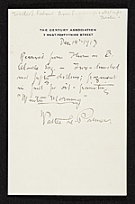 Receipt for purchase by Thomas B. Clarke of the oil painting Winter Morning from Walter L. Palmer