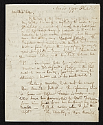 Rembrandt Peale, Philadelphia, Pa. letter to Charles Willson Peale, New York, N.Y.