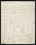 Rubens Peale, New York, N.Y. letter to Charles F. (Charles Frederick) Mayer, Baltimore, Md.