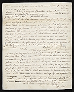 [Rubens Peale, New York, N.Y. letter to Charles F. (Charles Frederick) Mayer, Baltimore, Md. 1]
