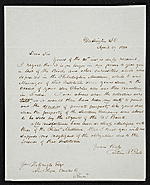 Titian Ramsay Peale, Washington, D.C. letter to unidentified recipient, Bucks County, Pa.