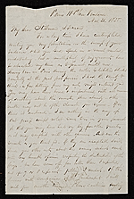 Thomas Prichard Rossiter, Paris, France letter to James Stillman
