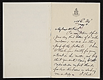 Francis Hopkinson Smith, New York, N.Y. letter to Charles Henry Hart