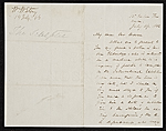[William Wetmore Story letter to Thomas Moran ]