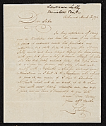 Thomas Sully, Richmond, Va. letter to Lawrence Sully, Charleston, S.C.