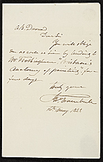 John Trumbull letter to Asher Brown Durand