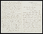 John F. (John Ferguson) Weir, New Haven, Conn. letter to Thomas B. (Thomas Benedict) Clarke