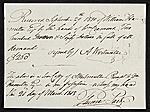 Receipt for payment by William Hamilton Page to A. Westmutter