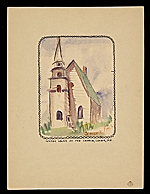 Water color of the church, Corea, ME.