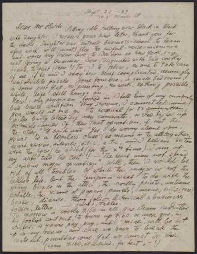 [Oscar Bluemner letter to John Davis Hatch]