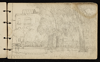 Palmer Hayden sketchbook of New York and Paris