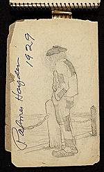[Palmer Hayden Sketchbook with Studies of Sailboats in France sketchbook page 2]