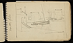 [Palmer Hayden Sketchbook with Studies of Sailboats in France sketchbook page 5]