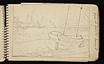 [Palmer Hayden Sketchbook with Studies of Sailboats in France sketchbook page 7]