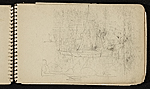 [Palmer Hayden Sketchbook with Studies of Sailboats in France sketchbook page 13]