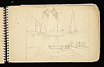 [Palmer Hayden Sketchbook with Studies of Sailboats in France sketchbook page 17]