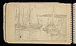 [Palmer Hayden Sketchbook with Studies of Sailboats in France sketchbook page 20]