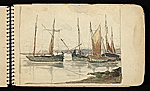 Palmer Hayden Sketchbook with Studies of Sailboats in France