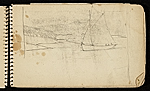 [Palmer Hayden Sketchbook with Studies of Sailboats in France sketchbook page 23]