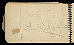 [Palmer Hayden Sketchbook with Studies of Sailboats in France sketchbook page 26]
