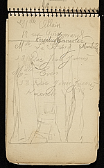 [Palmer Hayden Sketchbook with Studies of Sailboats in France sketchbook page 27]