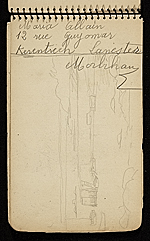 [Palmer Hayden Sketchbook with Studies of Sailboats in France sketchbook page 29]
