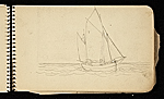 [Palmer Hayden Sketchbook with Studies of Sailboats in France sketchbook page 30]