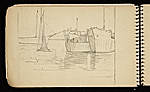 [Palmer Hayden Sketchbook with Studies of Sailboats in France sketchbook page 31]