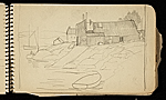 [Palmer Hayden Sketchbook with Studies of Sailboats in France sketchbook page 34]