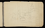 [Palmer Hayden Sketchbook with Studies of Sailboats in France sketchbook page 41]
