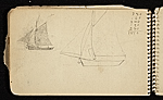 [Palmer Hayden Sketchbook with Studies of Sailboats in France sketchbook page 42]