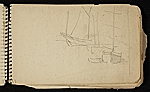 [Palmer Hayden Sketchbook with Studies of Sailboats in France sketchbook page 44]