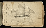 [Palmer Hayden Sketchbook with Studies of Sailboats in France sketchbook page 49]