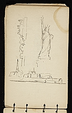 [Palmer Hayden sketchbook of New York and Paris sketchbook page 11]