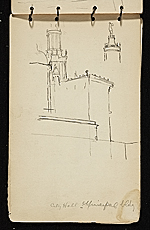 [Palmer Hayden sketchbook of New York and Paris sketchbook page 34]
