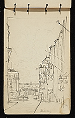 [Palmer Hayden sketchbook of New York and Paris sketchbook page 36]