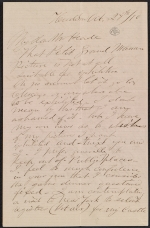 Frederic Edwin Church letter to Martin Johnson Heade