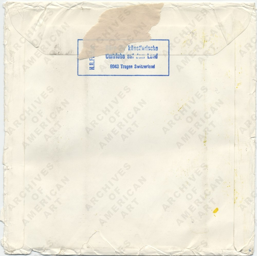 Image for envelope verso