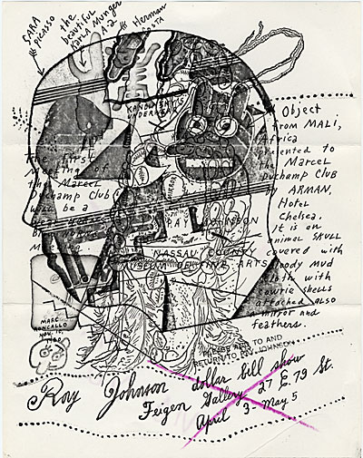 [Ray Johnson mail art to John Held]